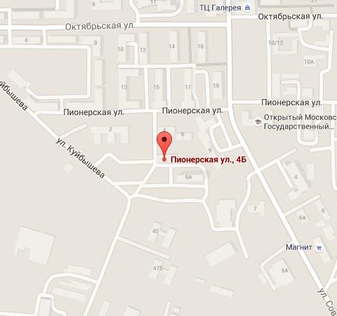 140200, г.Воскресенск, ул.Пионерская 4Б